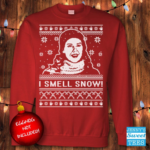 I Smell Snow Ugly Christmas | Loralei Gilmore Sweater | Gilmore Girls Sweater-D13