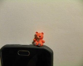Very Cute Bear Anti Dust Plug Phone Accessories Charm Headphone Jack Earphone Cap