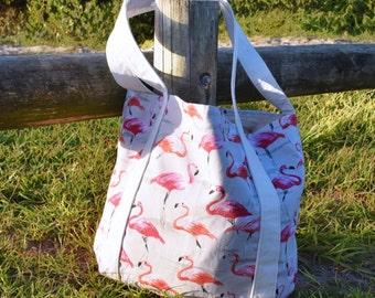 Flamingo Print Tote/Beach/Gym Bag
