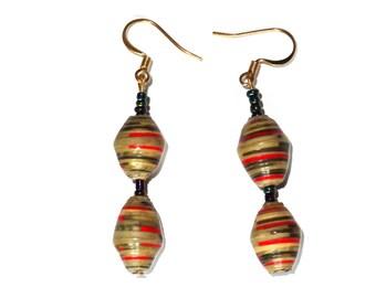 Fashion Jewellery Earring's, Dangle Earrings, Drop Earrings Green, Art Deco Earring, Ethnic Earring,  Eco friendly Jewelry, Small Earring