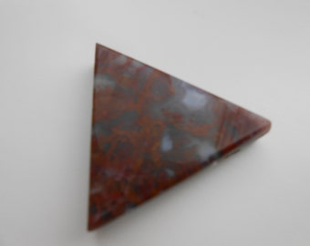 Red Moss Agate Cabuchon