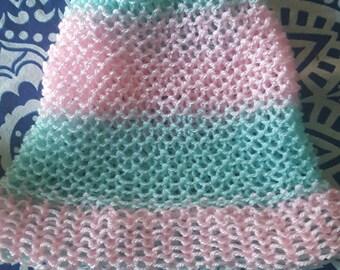 Fairy Floss Aqua/Pink Beanie