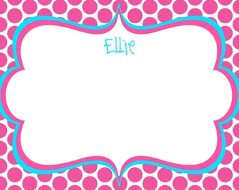 Pink Polkadot Note Cards