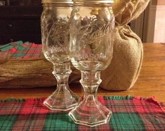 Red Neck Wine Glasses- Pair