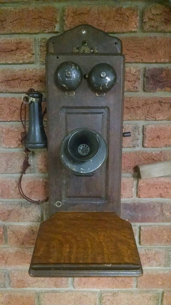 Early 1900 Home Design: Antique Eureka Wall Phone Early 1900's