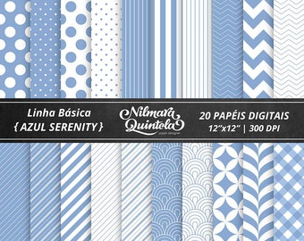 Basic Papers Kit - Serenity Blue