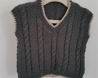 Cabled vest top, 6 - 12 months