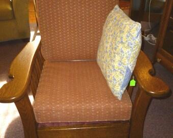 antique Oak Morris Chair w/ claw feet Refinished recliner 1900u0027s quarter sawn tiger & Morris chair   Etsy islam-shia.org