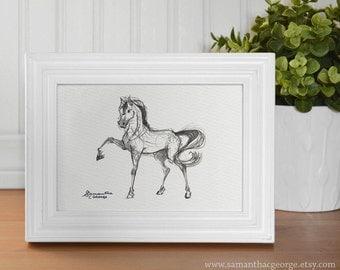 5x7 Print - Horse Sketch Print