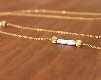 Bead necklace, long necklace, layering necklace, simple necklace, modern necklace, boho necklace
