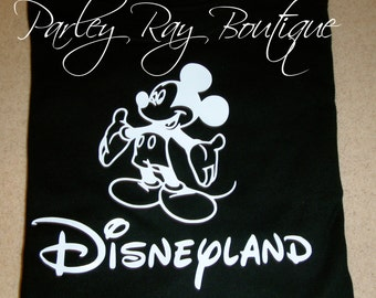 Customizable Mickey Mouse Disneyland Birthday Shirt Boys/ Girls T-Shirt
