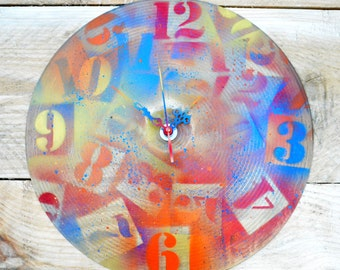 Graffiti Cymbal Clock