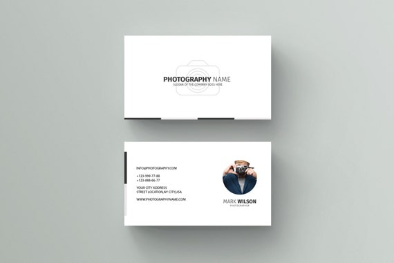 Items similar to photography business card template for Photography business cards templates for photoshop