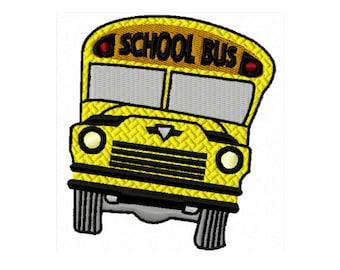 Embroidery Design Pattern, School Bus Embroidery Design, Back to School Machine Embroidery Design, Hand Digitized School Bus, Bus Driver