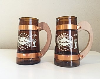 Vintage Grain Belt Beer Mugs