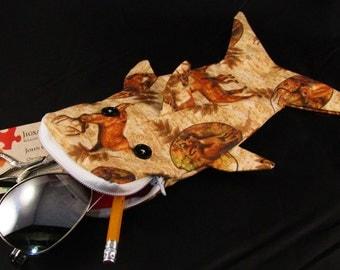 Shark bag- deer and earth tones