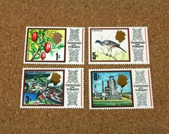 Trinidad and Tobago  1969 Stamp Collection Set - Vintage International Stamps