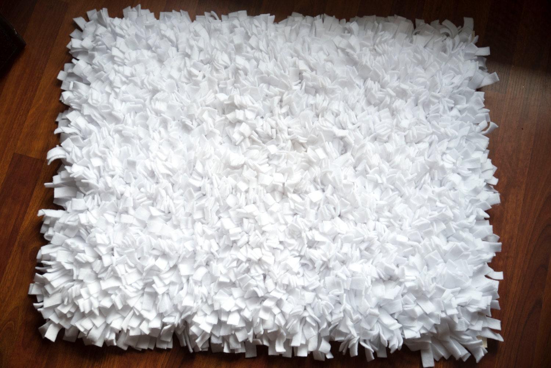 White Rag Rug Rag Rugphoto Propnursery Rugsuper Soft