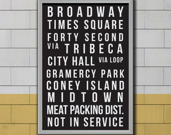 Subway Art - Poster Print  - Pop Art - Retro Style
