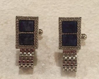 Vintage Wrap Around Cufflinks - Silvertone