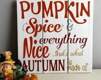 Fall Signs - Fall Pumpkin Sign - Rustic Fall Decor - Fall Wood Sign - Pumpkin Decor - Rustic Pumpkin Signs - Fall Sign - Fall Pallet Sign