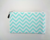 Chevron Clutch, cosmetic bag, jewelry pouch, bridesmaid gift, brides purse, evening bag, wedding purse, prom purse, gift for her