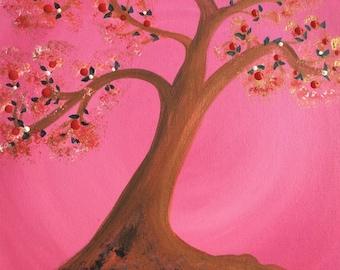 Pink Tree of Life