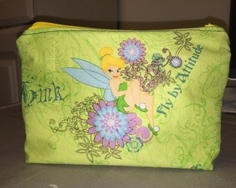 Tinkerbell zipper pouch make up bag