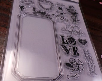 clear stamp set - Love theme