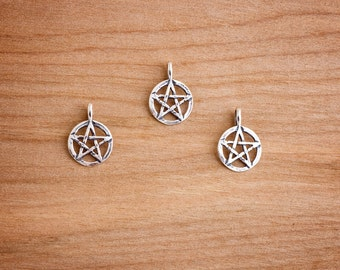 Small Pentacle - Pentagram Pendant - Sterling Silver- Chain Optional