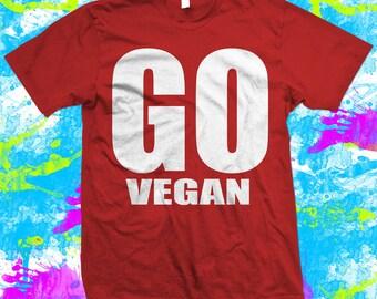 Go Vegan T Shirt - 100% cotton