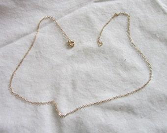 Vintage 12k Gold Filled Chain Link Necklace