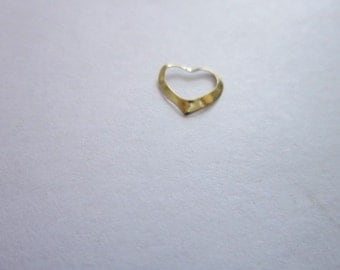 Vintage Petite 14 K Solid Gold Heart Charm or Pendant