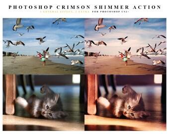 INSTANT DOWNLOAD Crimson Shimmer Photoshop Action