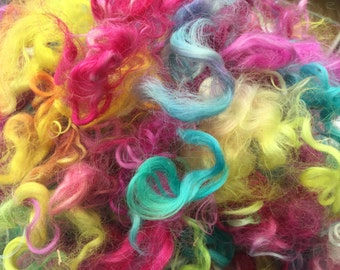 Acid rainbow mohair locks