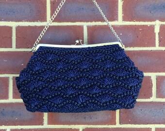 60s woven handbag