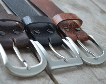 Vintage Belt with nickelfree buckle
