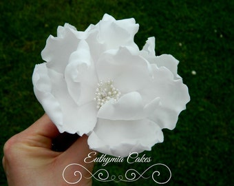 Fantasy Peony Rose with Pearl Centre Sugar Flowers