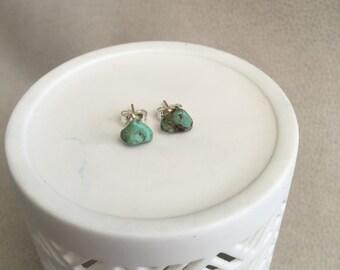Polished Turquoise Stud Earrings