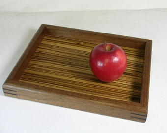 Valet Tray in Walnut and Zebrawood