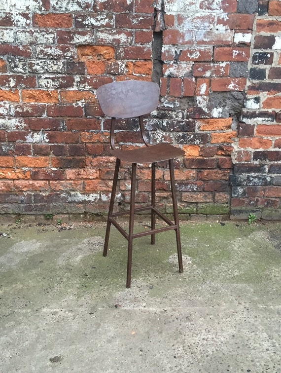 Industrial Steel Square Tube Machinist Stool Chic Chair