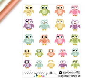 Owl Planner Stickers - Inkwell Press Livewell Erin Condren Plum Paper Planner Life May Designs kikki-k filofax birds pastel
