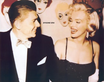 Ronald Reagan Marilyn Monroe Hollywood Color Poster Art Photo Artwork 11x14 16x20 or 20x24
