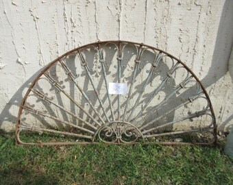 Antique Victorian Iron Gate Window Panel Fence Architectural Salvage #825