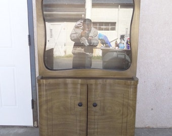 mid century James Mont petite china cabinet hutch server sideboard mid century