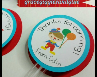 6 Personalized Carnival/Circus Themed Bubble Favors, County Fair Favors, Bubble Favors