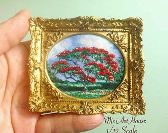 "Hand Painted ""Red tree"" Original Painting"