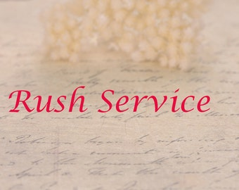 The extra cost for Rush Order! Rush Service for any jewelry,wedding engagement rings,pendants,earrings.
