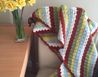 Crochet Blanket Spring Colours