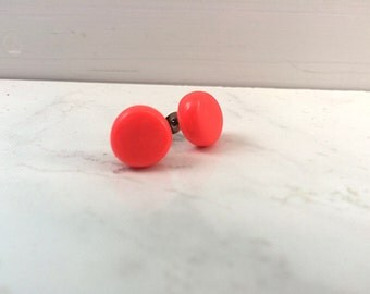 Watermelon Pink Stud Earrings